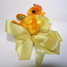 VTG 1950S CHENILLE EASTER CHICK CORSAGE W CHENILLE CELLOPHANE WINGS WIRE LEGS