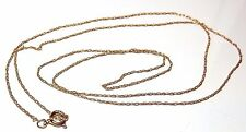 "A FINE LIGHT WEIGHT 18"" 10CT 10KT YELLOW GOLD  CHAIN NECKLACE BOLT RING CLASP"