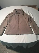 NWT CALVIN KLEIN PERFORMANCE Women's Fleece Jacket Full Zip Tan Size XL - New