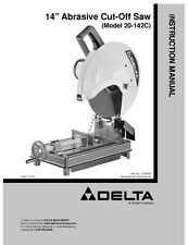 "Delta 20-142C 14"" Abrasive Cut-Off Saw Instruction Manual"