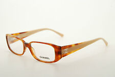 New Authentic Chanel 3120-H c.945 Havana/Beige 52mm Frames Eyeglasses RX Italy