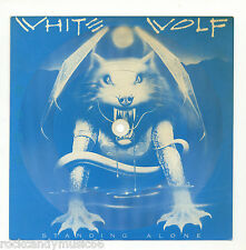 "WHITE WOLF - STANDING ALONE / USED PROMO 7"" CLEAR FLEXI SOUND CARD / 1984 RCA"