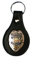 Keychain Holder CONCEALED CARRY WEAPON PERMIT CCW GOLD BADGE and WITH KEYRING