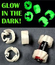 50 PCS GLOW IN THE DARK CUSTOM BATTERY ADAPTER CONVERTER AA TO C BATTERY SIZE