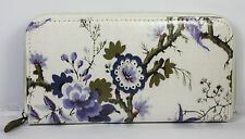 Ladies Womens Purse Wallet Zip Cream Floral Clutch Trendy V&A Accessory Gift NEW