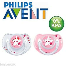 Philips AVENT Glow-in-the-dark Night Time Soother (6 - 18 Months, Pack of 2)
