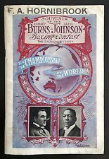 1908 JACK JOHNSON v TOMMY BURNS very rare on-site programme