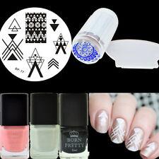 6Pcs BORN PRETTY Nail Art Vernis de Stamping Plaque de Stamping Et Tampon