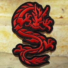 Ecusson Patch thermocollant dragon chinois- rouge