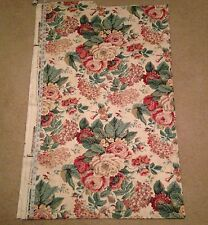 "Waverly Ladies Day Vintage Fabric Floral Roses 54"" x 90"""