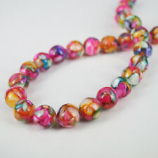 """12mm Mother of Pearl Shell Resin Round Loose Beads Jewelry Making 15"""" Free Ship"""