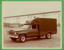 VTG 1976 Jeep J-200 Military Ambulance File Photo 8x10 Front ¾ Driver Side 5346