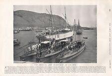 1897 antiguos impresión militar-el Arsenal y Rada en Salamis