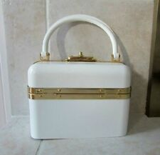 New Beautiful Lucite Style Train Case Purse Made In France With Key Vintage