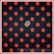 BonEful Fabric FQ Cotton Quilt Gray Red Minnie Mickey Ladybug Quarter Polka Dot