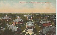 1913 Bird's Eye View of Soldiers & Sailors Home in Quincy, IL Illinois PC
