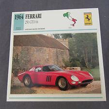 630C Edito Service Fiche Dépliant Ferrari 250 GTO 1964
