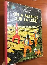 Tintin: On A Marche Sur La Lune 1956 Early Belgian Edition EO Herge first