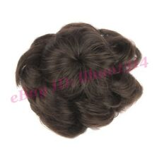 Drawstring Scrunchie Hair Bun Cover Hairpiece Curly Big Flower Style Chignon HOT