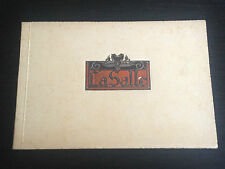 LA SALLE CADILLAC CAR SPANISH DEALER BROCHURE PROSPEKT CATALOGO CATALOGUE