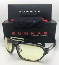 New GUNNAR Computer Glasses TROOPER Smoke Grey Frame w/ Amber Yellow Lenses