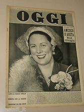 OGGI=1953/9=RENATA TEBALDI=MARIA CALLAS=SPECIALE LIRICA MONDIALE=ORESTE VACCARI=