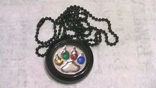 Teen Wolf Themed Floating Charm Black Locket Wolf Paw Print Pendant