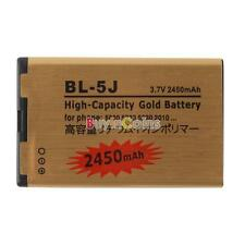 High Power 2450mAh Gold Li-ion 3.7V Battery BL-5J For Nokia 5228 5230 5233 5800