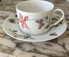 CERALENE MON JARDIN FLAT CUP AND SAUCER
