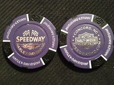 "Harley Davidson Poker Chip (Purple & Black) ""Speedway"" Concord NC HOME OF NASCAR"