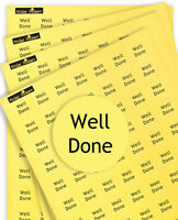 """700 """"WELL DONE"""" Stickers, Praise/Reward Round Yellow Labels For Teachers/Parents"""