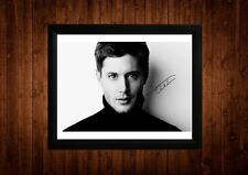 JENSEN ACKLES SIGNED FRAMED PP A4 PRINT GIFT IDEAS SUPERNATURAL DAWSONS CREEK