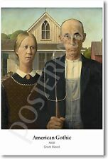 American Gothic 1930 - Grant Wood - NEW Famous Fine Art Painting Print POSTER