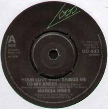 [ROGER COOK] MARCIA HINES ~ YOUR LOVE STILL BRINGS ME TO MY KNEES ~ 1981 UK 7""