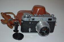 FED 2 (type D3) Vintage Soviet Rangefinder Camera. Case 1962. (2342954) Serviced