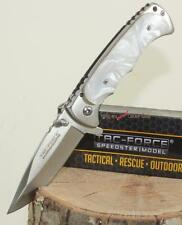 "7"" TAC-FORCE Mother Of Pearl Finger Grooved Spring Assisted Opening Pocket Knife"