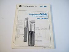 ALLEN-BRADLEY 955096-08 SERVO POSITONING ASSEMBLY USER MANUAL 1771-832