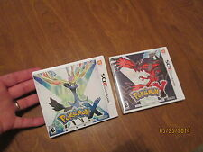 POKEMON X & POKEMON Y NINTENDO 3DS LOT 2 VIDEO GAMES ORIGINAL NEW FACTORY SEALED