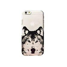 Coque gel souple incassable motif fantaisie pour iPhone 5 / 5S ( Loup )