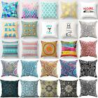 Vintage Bohemia Paisley Cotton Linen Pillow Cover Sofa Cushion Cover Home Decor