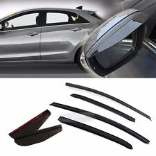 Smoke Window Vent Visors + Side Mirror Rain Guard for HYUNDAI 2013-16 Elantra GT