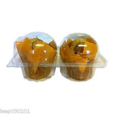 50 x Double Twin Plastic Cupcake /Muffin Cases-Pods Domes Cup Cake Boxes Party