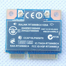 HP Ralink RT3090BC4 802.11b/g/n WiFi N+ BT Bluetooth PCI-e Card SPS: 602992-001