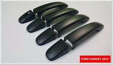 SET OF 4  BLACK MATT DOORS HANDLE COVER FOR FORD EVEREST 2015