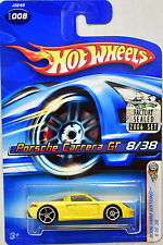 HOT WHEELS 2006 FIRST EDITIONS PORSCHE CARRERA GT #008 YELLOW FACTORY SEALED