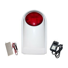 Wireless Sound Light Alarm Horn Works With Flashing Lights work with PSTN GSM