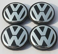 Volkswagen GENUINE VW  Wheel Centre Cap Badges  Wheels Set of 4x 65mm GOLF