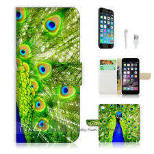 "iPhone 6 Plus (5.5"") Print Flip Wallet Case Cover! Beautiful Peacock P0184"