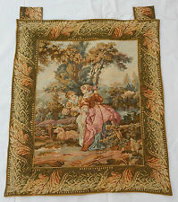 Vintage French Romantic Scene Tapestry Wall Hanging 77x88cm T123