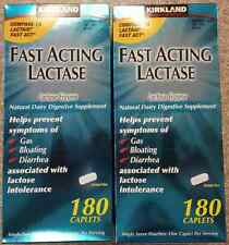 360 ct Kirkland FAST ACTING LACTASE FOR LACTOSE INTOLERANCE 2 x 180 CAPLETS NEW